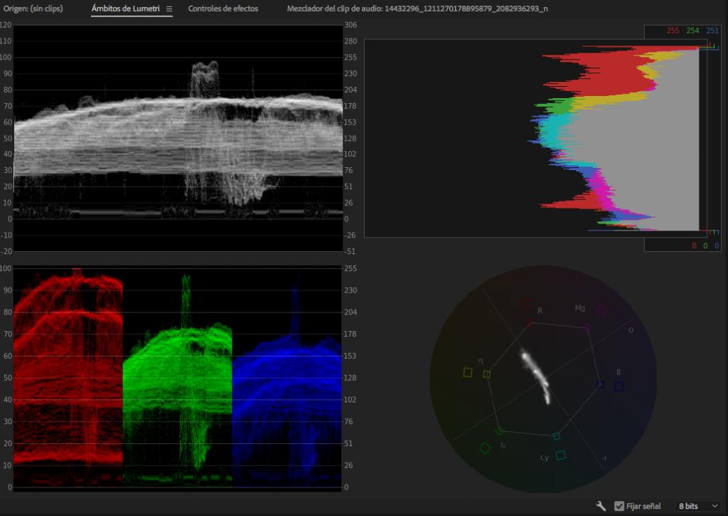 Panel Ambitos de Lumetri Adobe premiere editalo pro