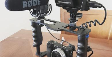 Jaula con accesorios para grabar