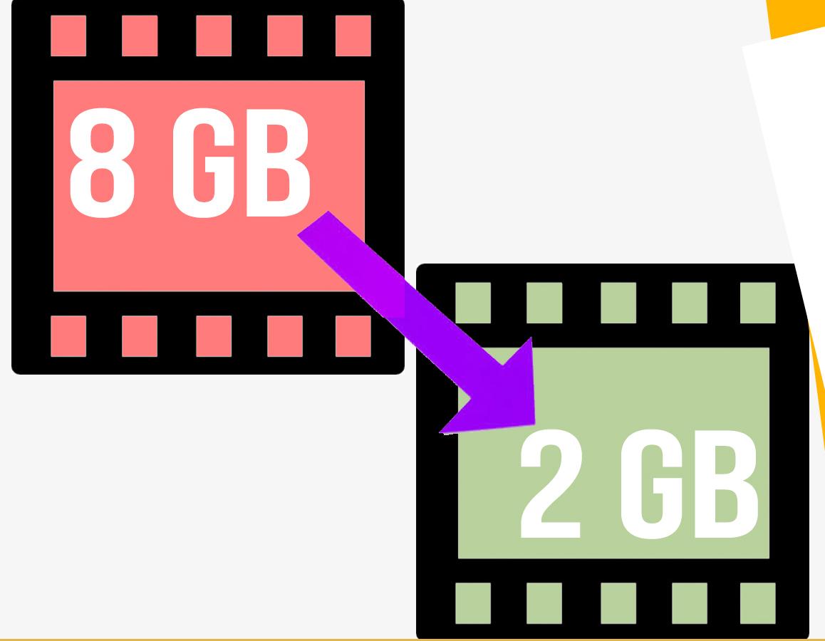 Reducir el peso de un video