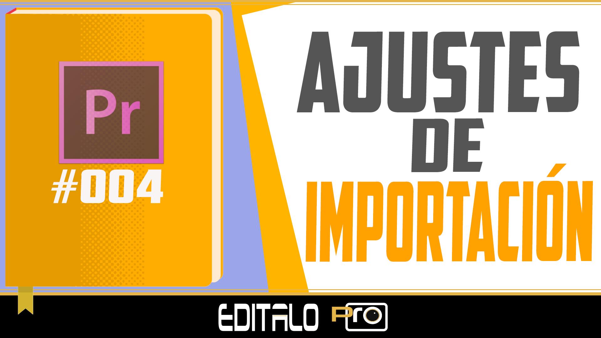 Ajustes de Importacion Editalo pro
