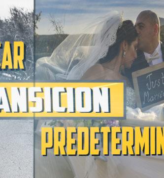 transición predeterminada adobe premiere