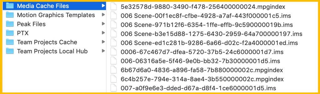 Archivos temporales en Adobe Premiere