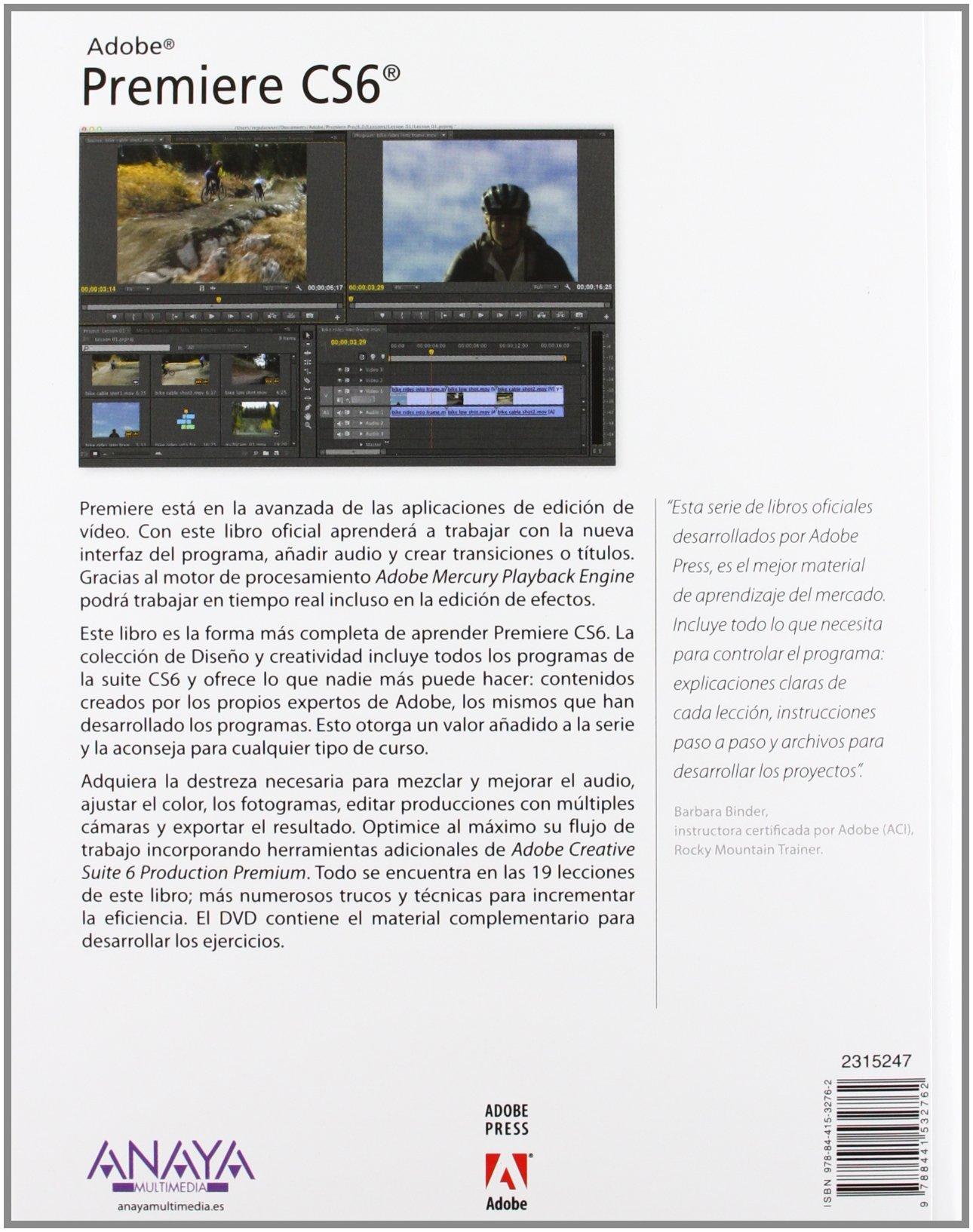 Interior libro Adobe Premiere