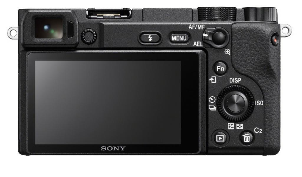 Sony A6400 vista trasera