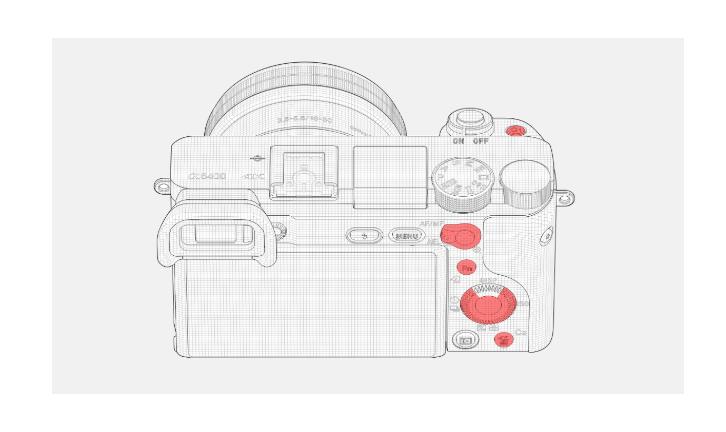 Botones configurables Sony A6400