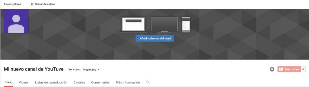 Mi nuevo canal de youtube