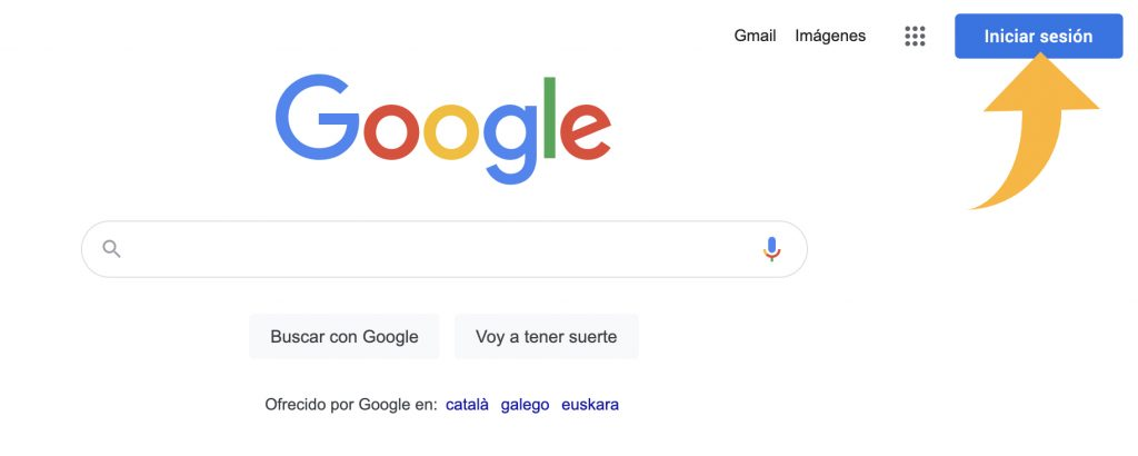 Iniciar sesion en google