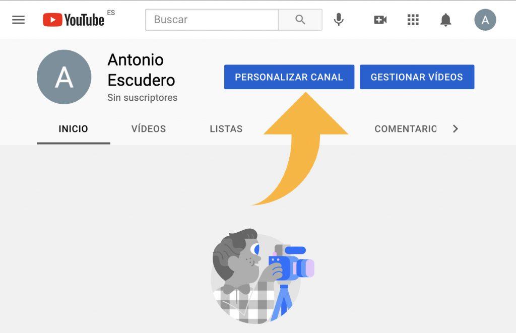 personalizar canal de youtube