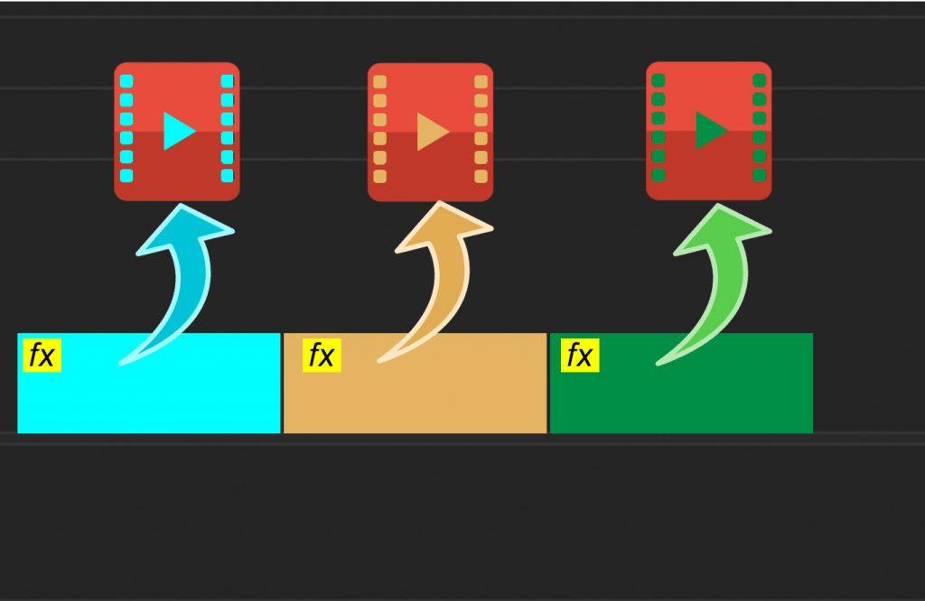 Exportar dos clips de video individuales