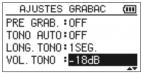 Tono Auto -Tascam-dr05