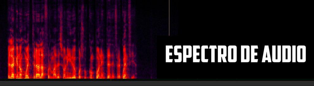 representación de una onda de sonido espectral