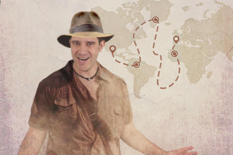 mapa de viaje animado - editalo pro
