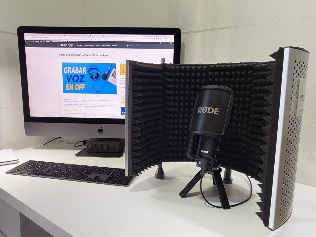 grabar voz en off con pantalla