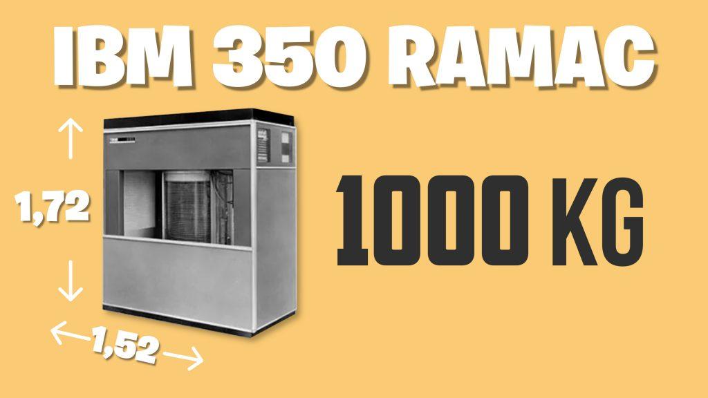 Primer disco duro de la historia IBM 350 RAMAC