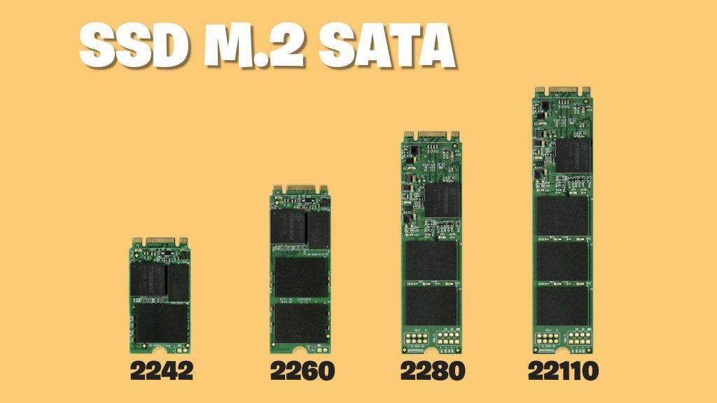 Tamaños de SSD M.2 SATA
