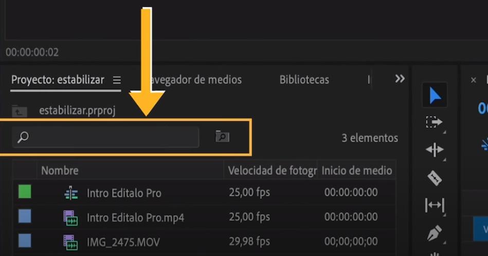 barra de busqueda editalo pro
